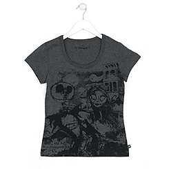 The Nightmare Before Christmas Ladies' Grey T-Shirt