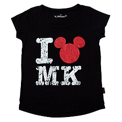Disneyland Paris I Love Mickey Black T-Shirt For Girls