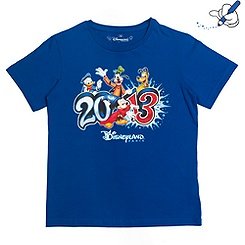Disneyland Paris 2013 Blue Logo T-Shirt For Kids