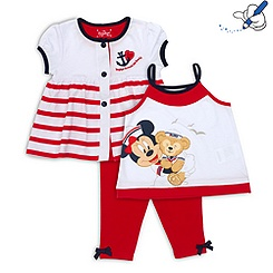 Duffy Bear Vest, Cardigan and Leggings For Kids
